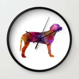 Serbian Hound in watercolor Wall Clock