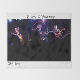 Birds in the Boneyard, Print 16: Birds in the Boneyard Throw Blanket