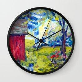 Tir na Nog Farm - Red Shed Wall Clock