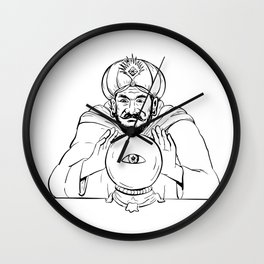 Fortune Teller Crystal Ball Drawing Wall Clock