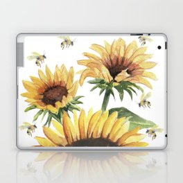 Sunflowers and Honey Bees Laptop & iPad Skin