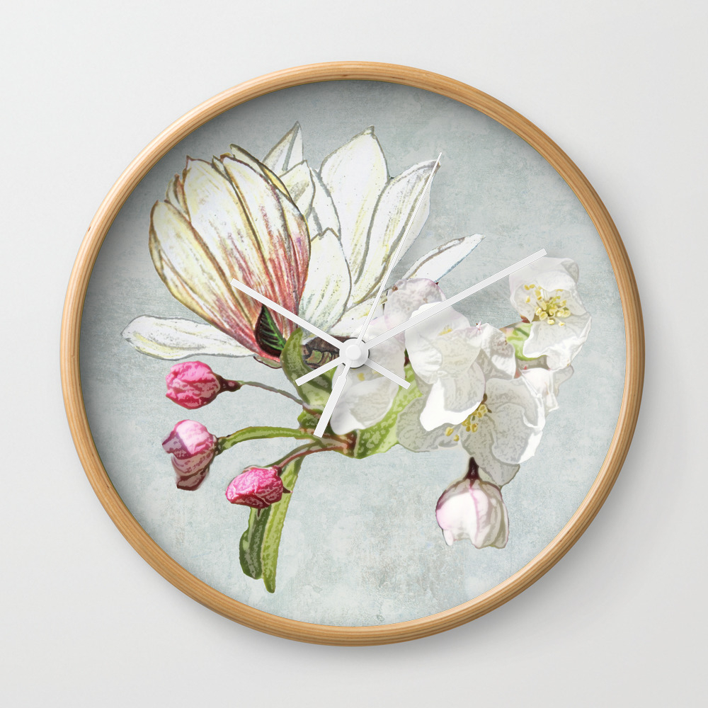 Magic In The Air - Blossoming Wall Clock by Anipani CLK9015910