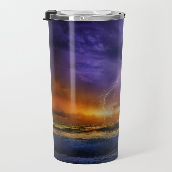 Illusionary Lightning Travel Mug