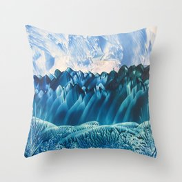 Fantasy Turquoise and Teal Landscape Throw Pillow