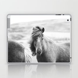 Horse Photograph in Iceland Laptop & iPad Skin