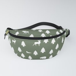 Woodland Pattern: Green Fanny Pack