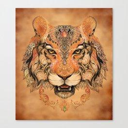 Indian Tiger Tattoo Canvas Print