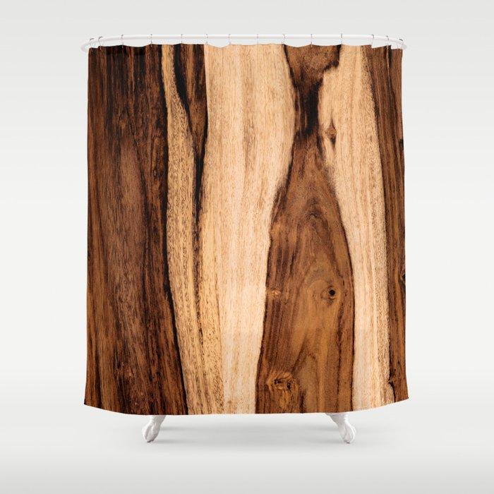 Sheesham Wood Grain Texture Close Up Shower Curtain