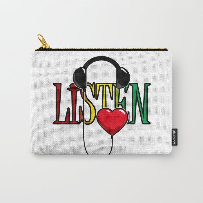 Listen Carry-All Pouch