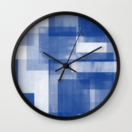 Untitled No. 7 | Blue + White Wall Clock