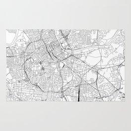 Nashville White Map Rug