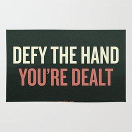 Defy the Hand You're Dealt Rug
