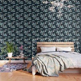 narwhal in ocean blue Wallpaper