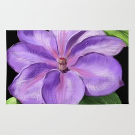 The Purple Clematis Rug