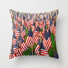 Field Of Flags Throw Pillow