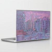 budapest Laptop & iPad Skins featuring Budapest through pencil by Zsolt Vidak