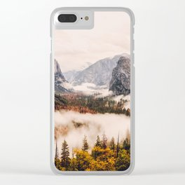 Amazing Yosemite California Forest Waterfall Canyon Clear iPhone Case