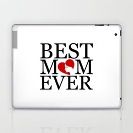 Best mom ever with face of a mother forming a heart- mothers day gifts for mom Laptop & iPad Skin