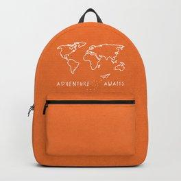 Adventure Map - Retro Orange Backpack