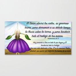 Flor del cielo - Deuteronomio 28, 12 Canvas Print