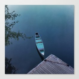 Blue Canoe Canvas Print
