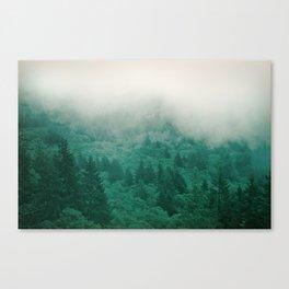 Misty Moody Mountain Forest Fog Northwest Oregon Washington Canvas Print