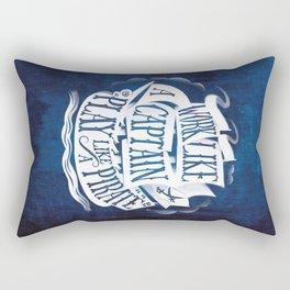 like a pirate Rectangular Pillow