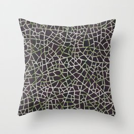 Crackle Magenta Suede Throw Pillow
