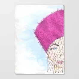 """""""Girl in Hat""""  Canvas Print"""