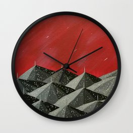 """New Orleans Umbrellas"" Wall Clock"