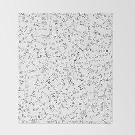 Equation Overload II Throw Blanket
