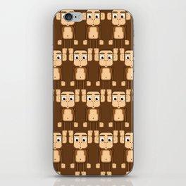 Super cute animals - Cheeky Brown Monkey iPhone Skin