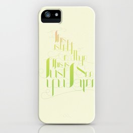 This Is Not Goodbye, This Is Just See You Later iPhone Case