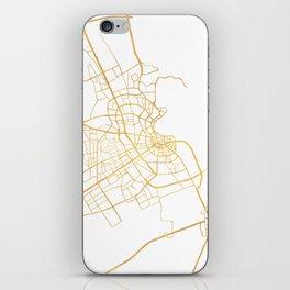 DOHA QATAR CITY STREET MAP ART iPhone Skin