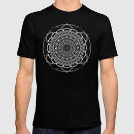 Black and White Geometric Mandala T-shirt