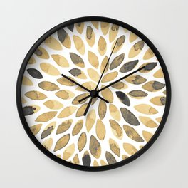 Watercolor brush strokes - neutral Wall Clock