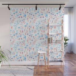 beach club pattern Wall Mural
