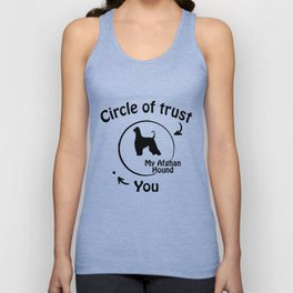 Circle of trust my Afghan Hound Unisex Tank Top