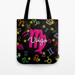 Virgo Floating Zodiac Tote Bag