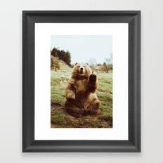 Hi Bear Framed Art Print