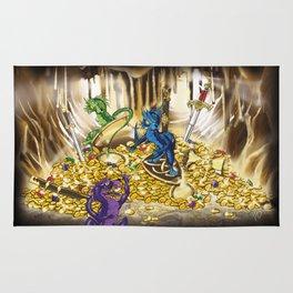 Treaure Cave - 3 happy dragons Rug