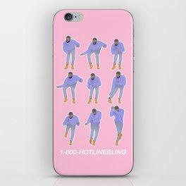 Hotline bling (pink) iPhone Skin