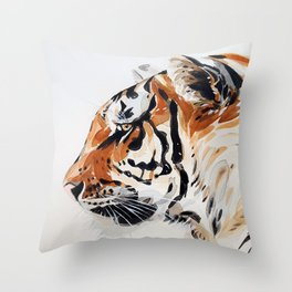 TIGER IN WATERCOLOR Throw Pillow