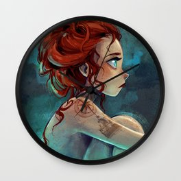 soft silence Wall Clock