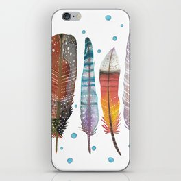 Feathers III iPhone Skin
