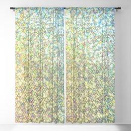 Glitter Rainbow Sheer Curtain