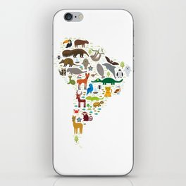 South America sloth anteater toucan lama bat fur seal armadillo boa manatee monkey dolphin iPhone Skin