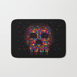 A Colorful Death by Qixel Bath Mat