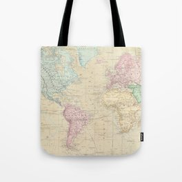 Vintage Map of The World (1862) Tote Bag