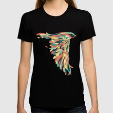 Downstroke LARGE Black Womens Fitted Tee